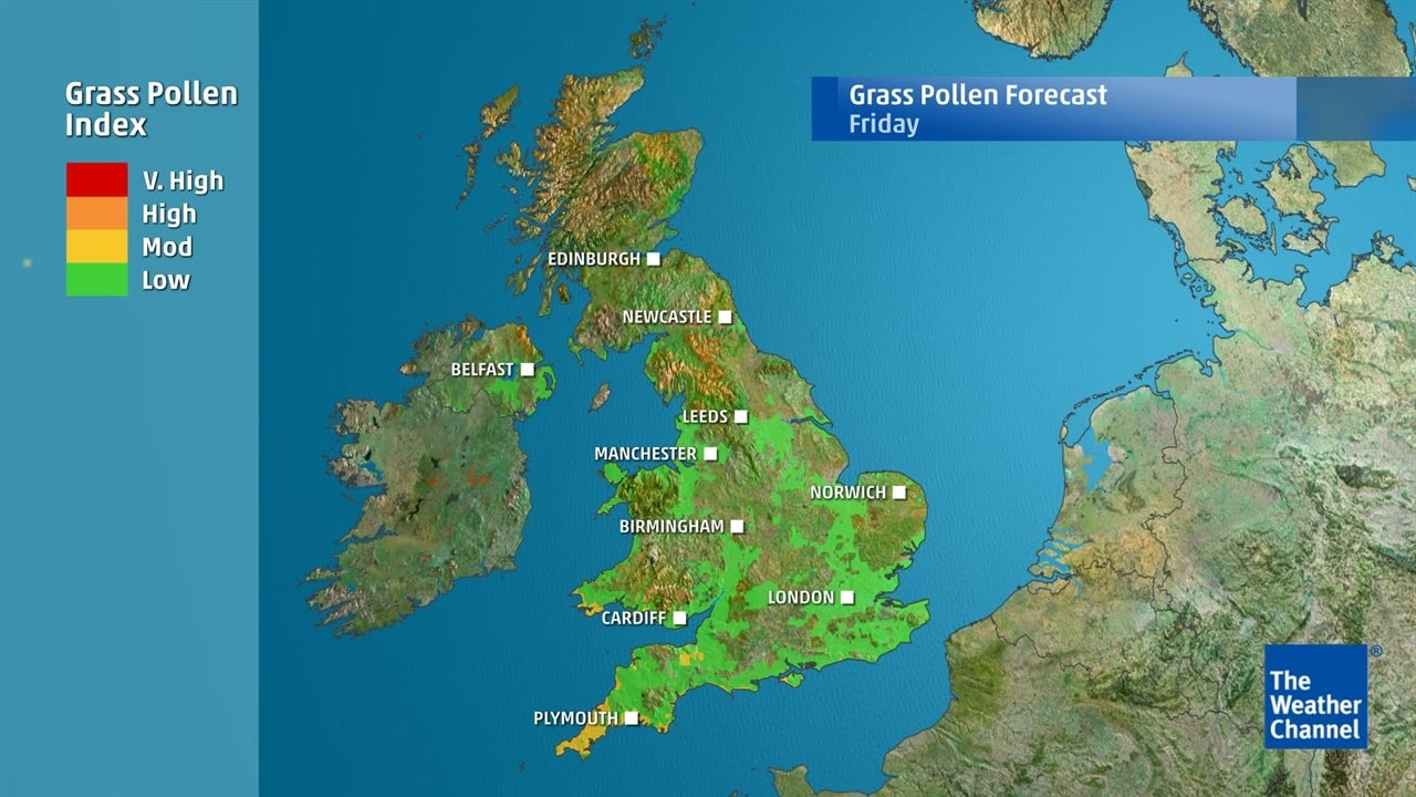 Grass Pollen: Where is worst affected area of UK?