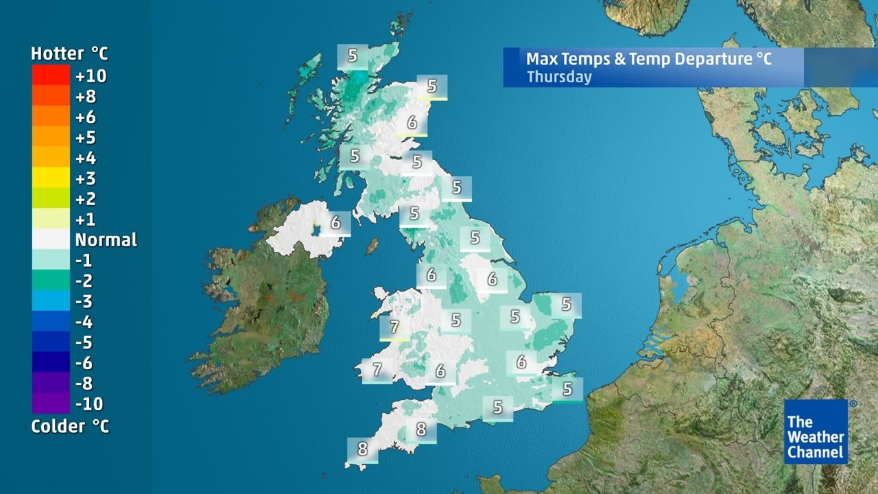 UK weather: Today's top temperatures - January 17