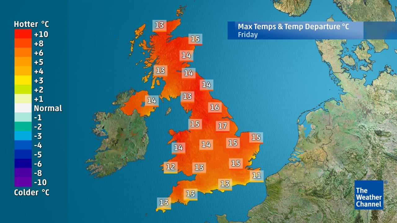Will temperatures remain above-normal this week?