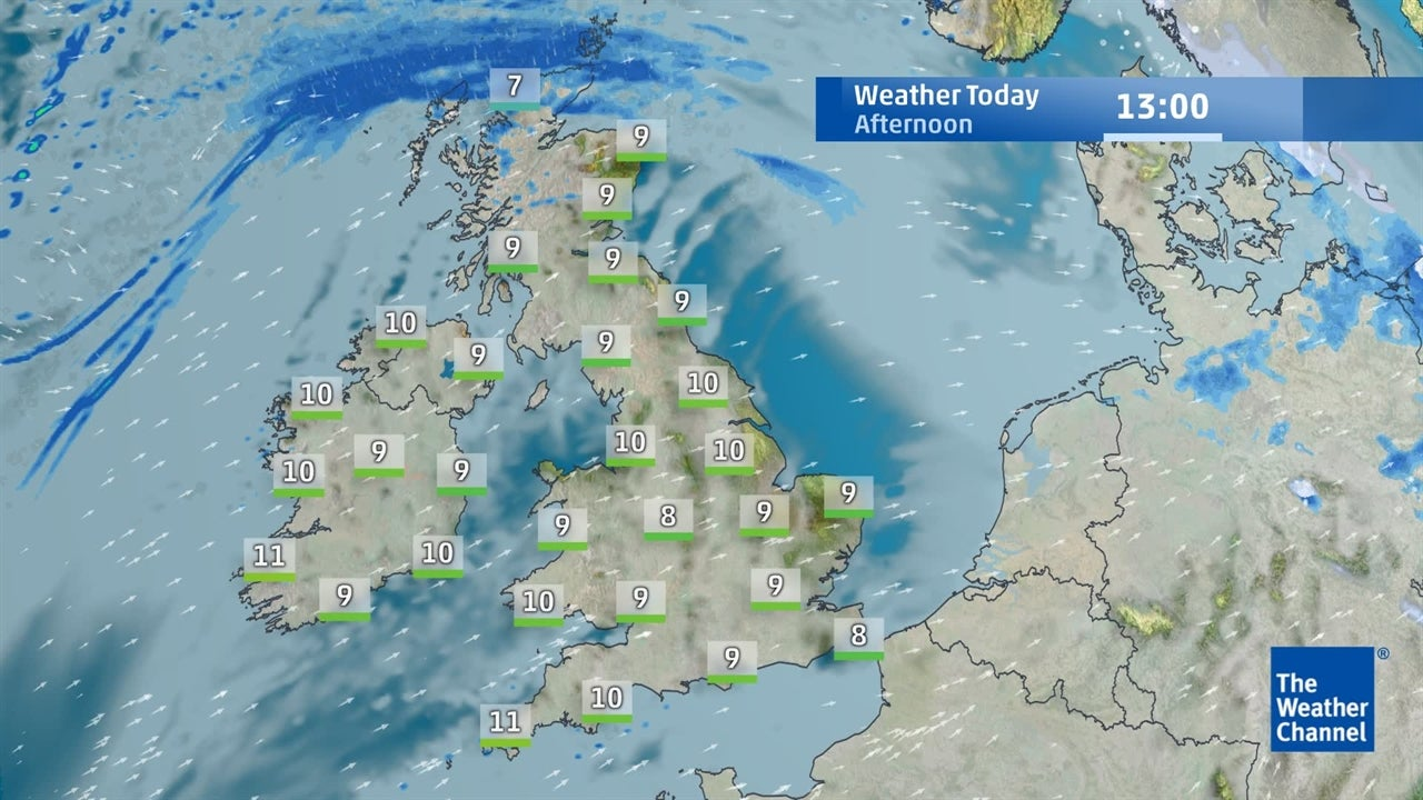 VIDEO: Today's UK weather forecast - January 15