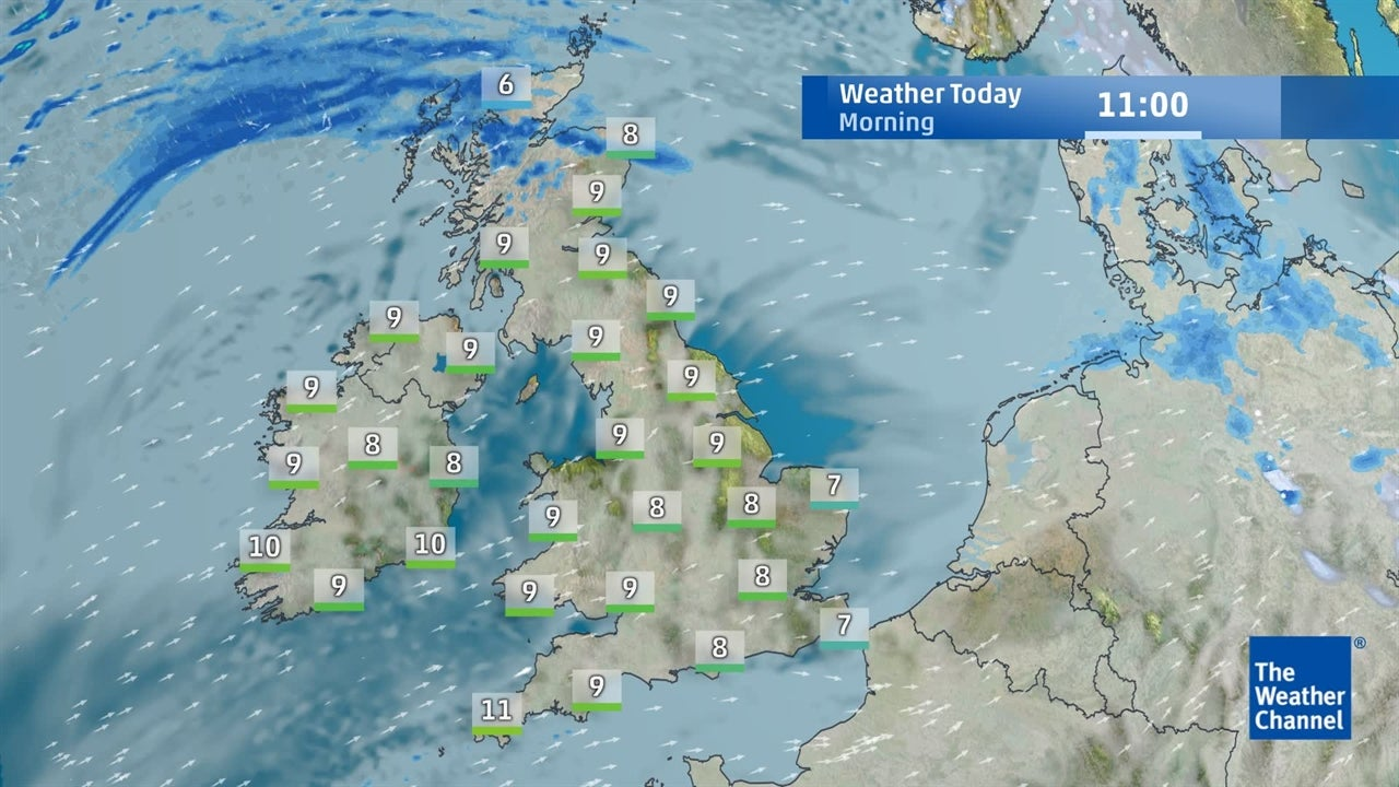 The Weather Map For Today.Watch Today S Uk Weather Forecast January 16 The Weather Channel