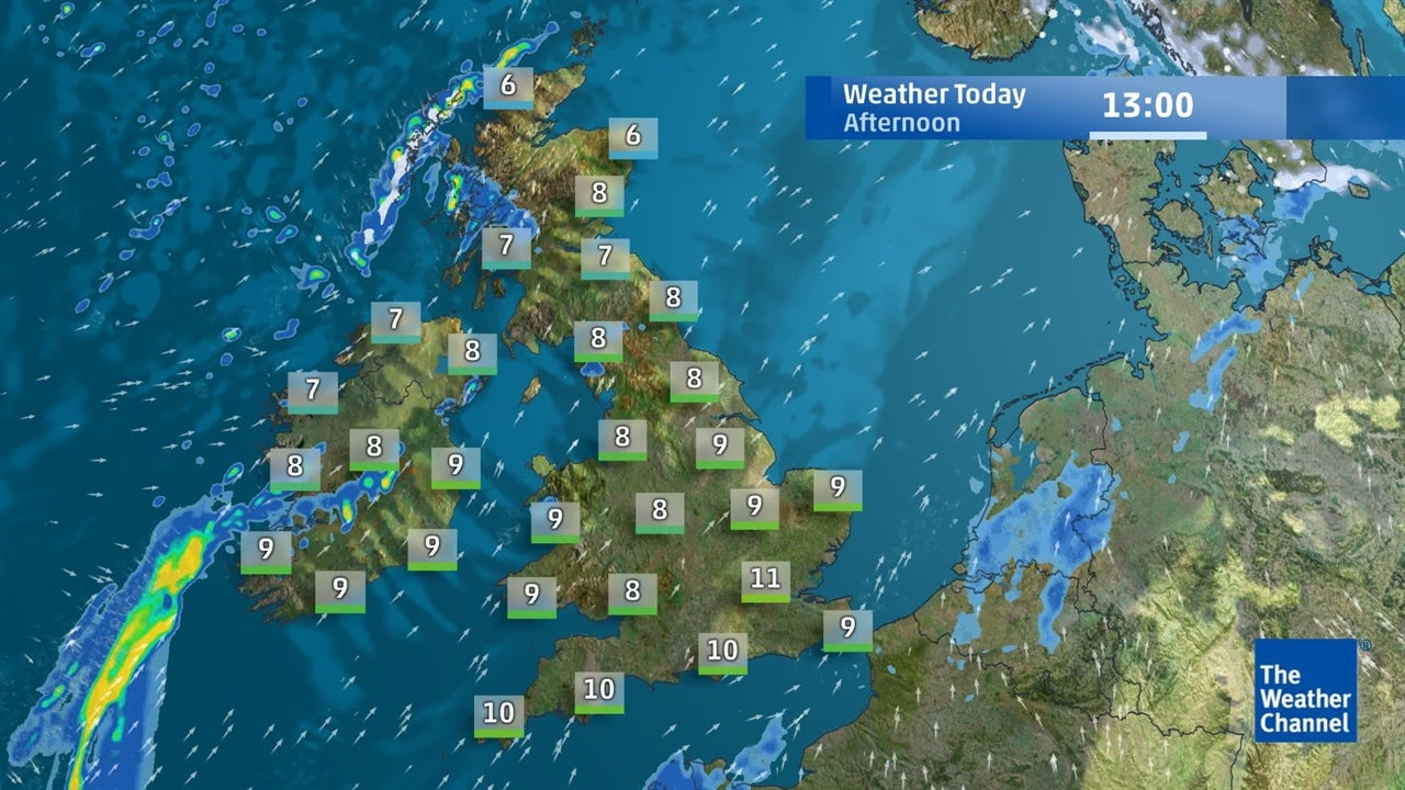Latest UK weather forecast   February 6   The Weather Channel