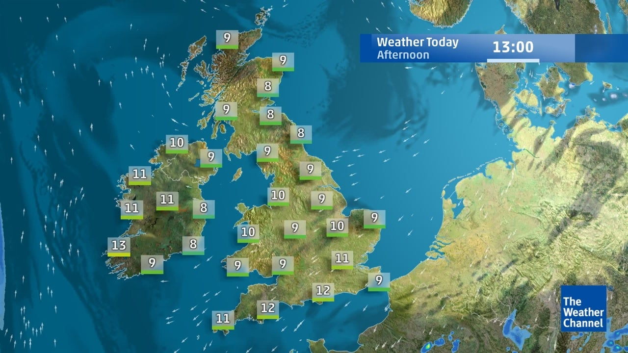 Check out the latest forecast for the UK and Ireland for April 10