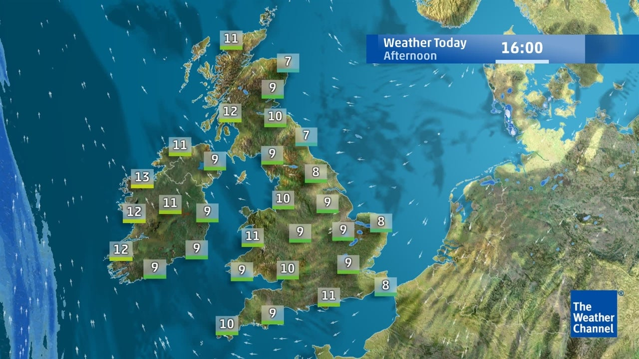 View the latest detailed UK weather forecast for next few days from April 12