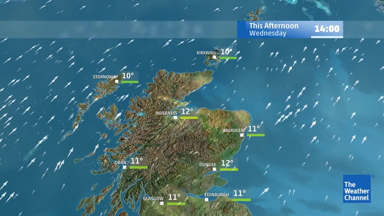 Latest UK weather forecast for February 13   The Weather Channel