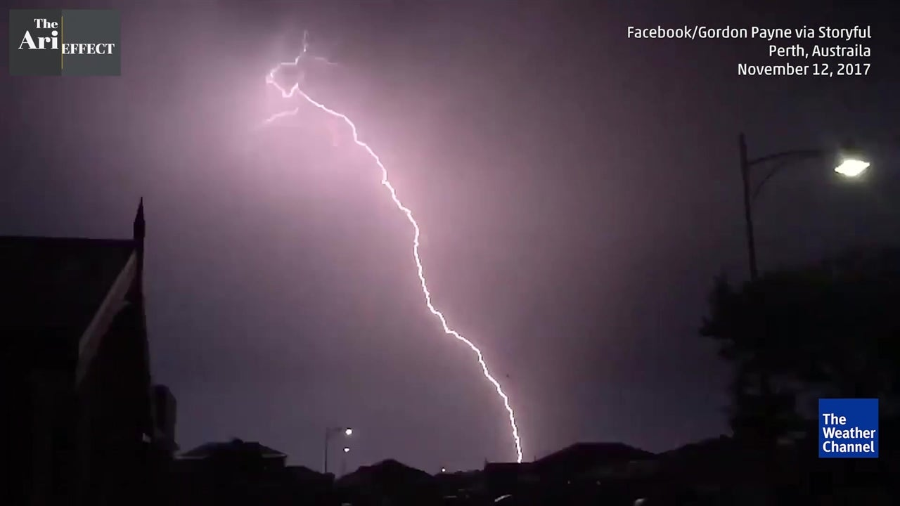 Lightning emits radioactive material