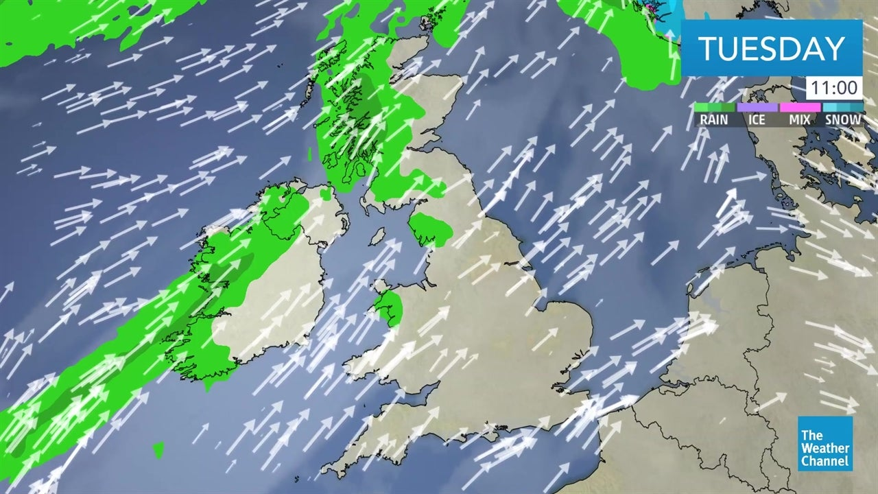 Today's UK weather forecast - February 12