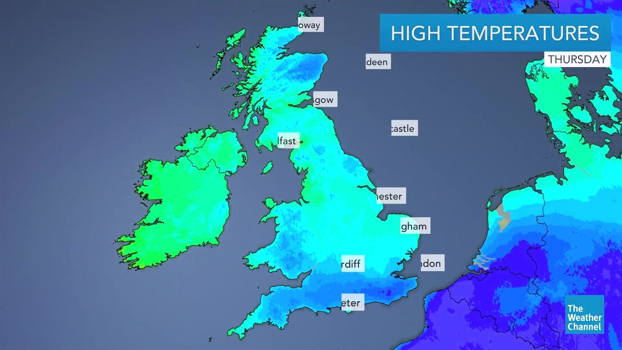 Map Of Uk Weather.The Weather Channel