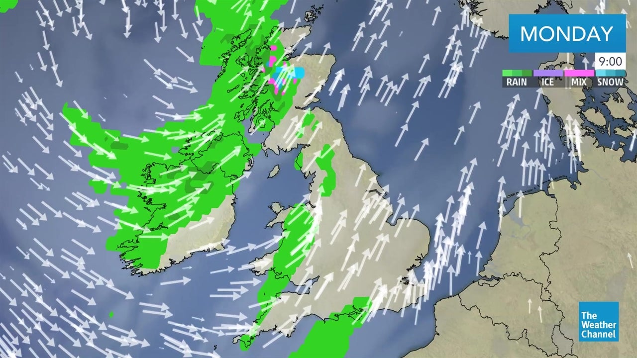 The Weather Map For Today.Today S Latest Uk Weather Forecast February 18 The Weather Channel
