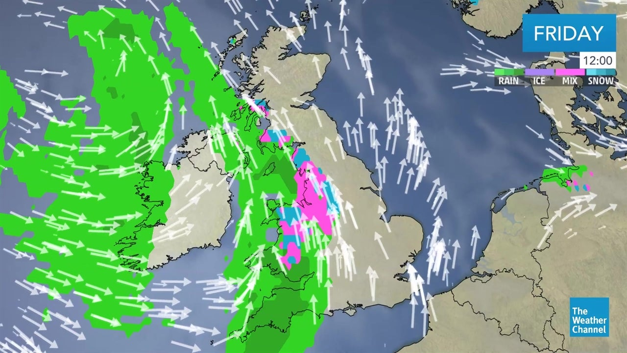 LATEST: UK weather forecast - January 18