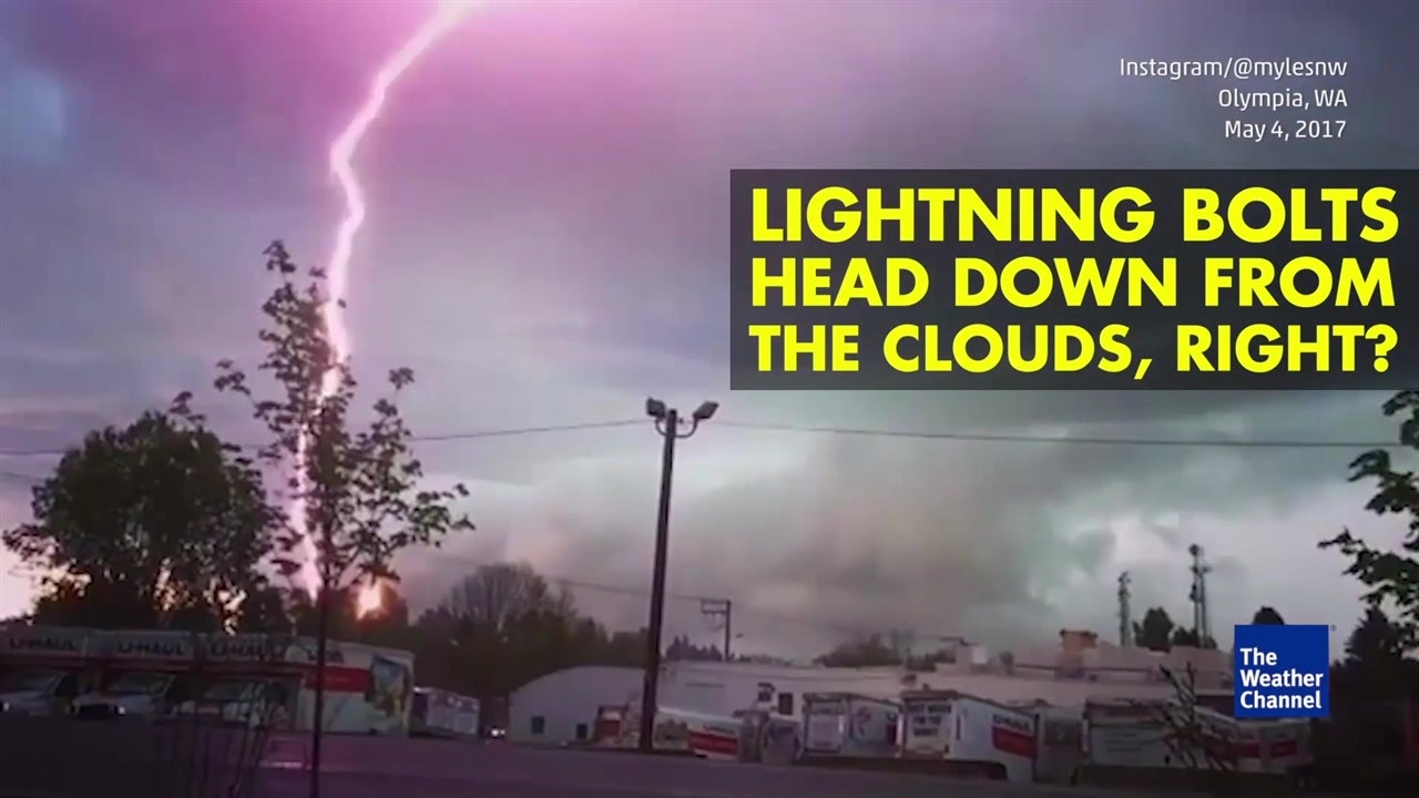 Watch: Upside down lighting bolts