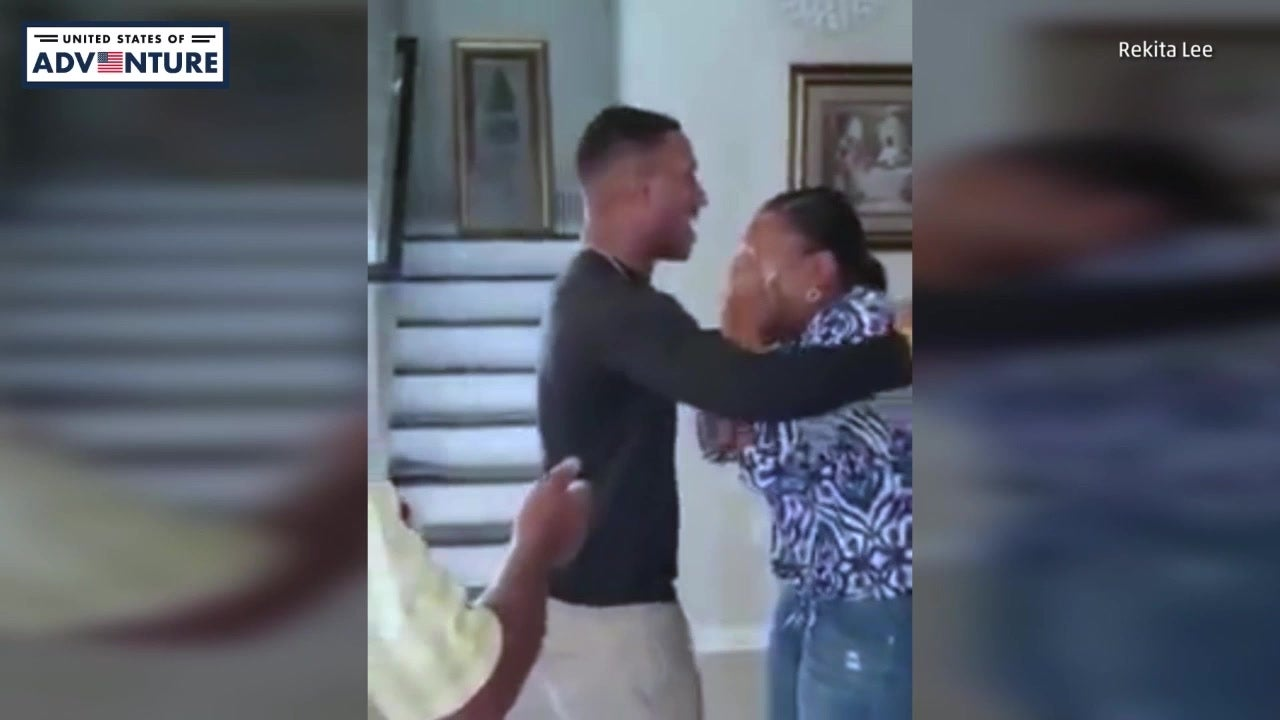 Marine Son Gives Mom Shocking Surprise