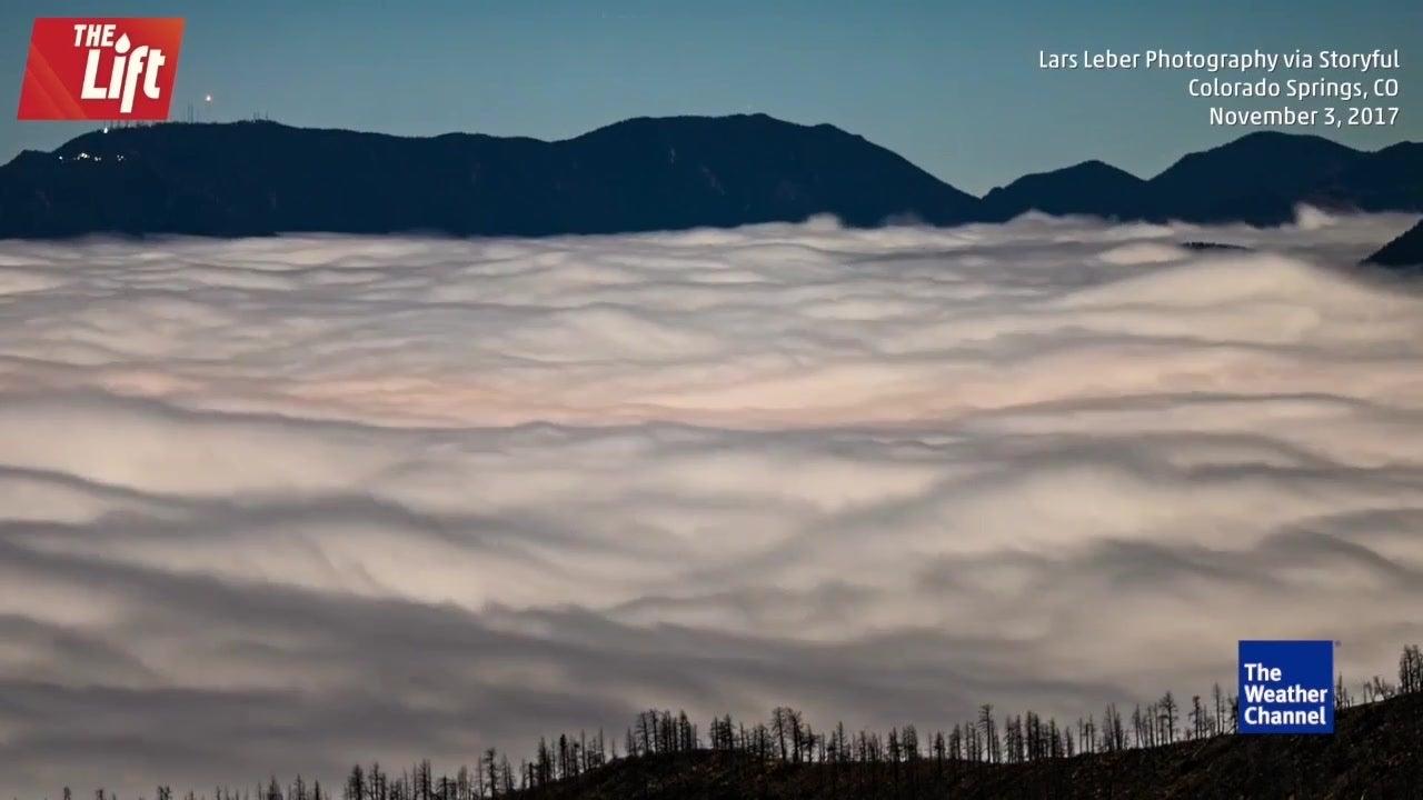 Clouds Look Like Ocean Over Colorado Springs
