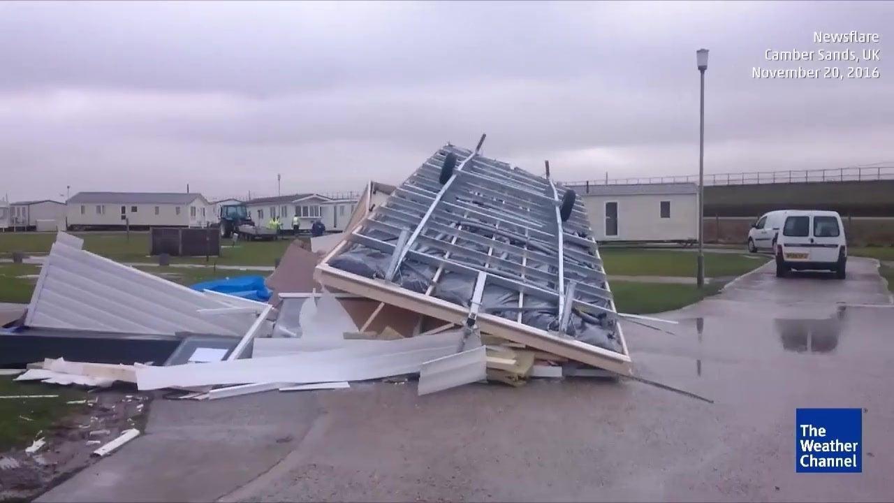 Sturm Angus wütet heftig in England