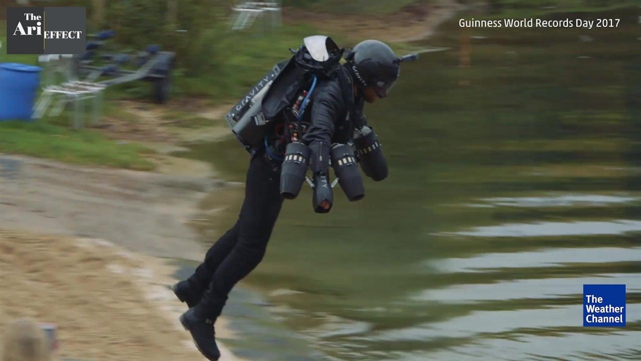 Inventor Breaks Jet Suit Speed Record