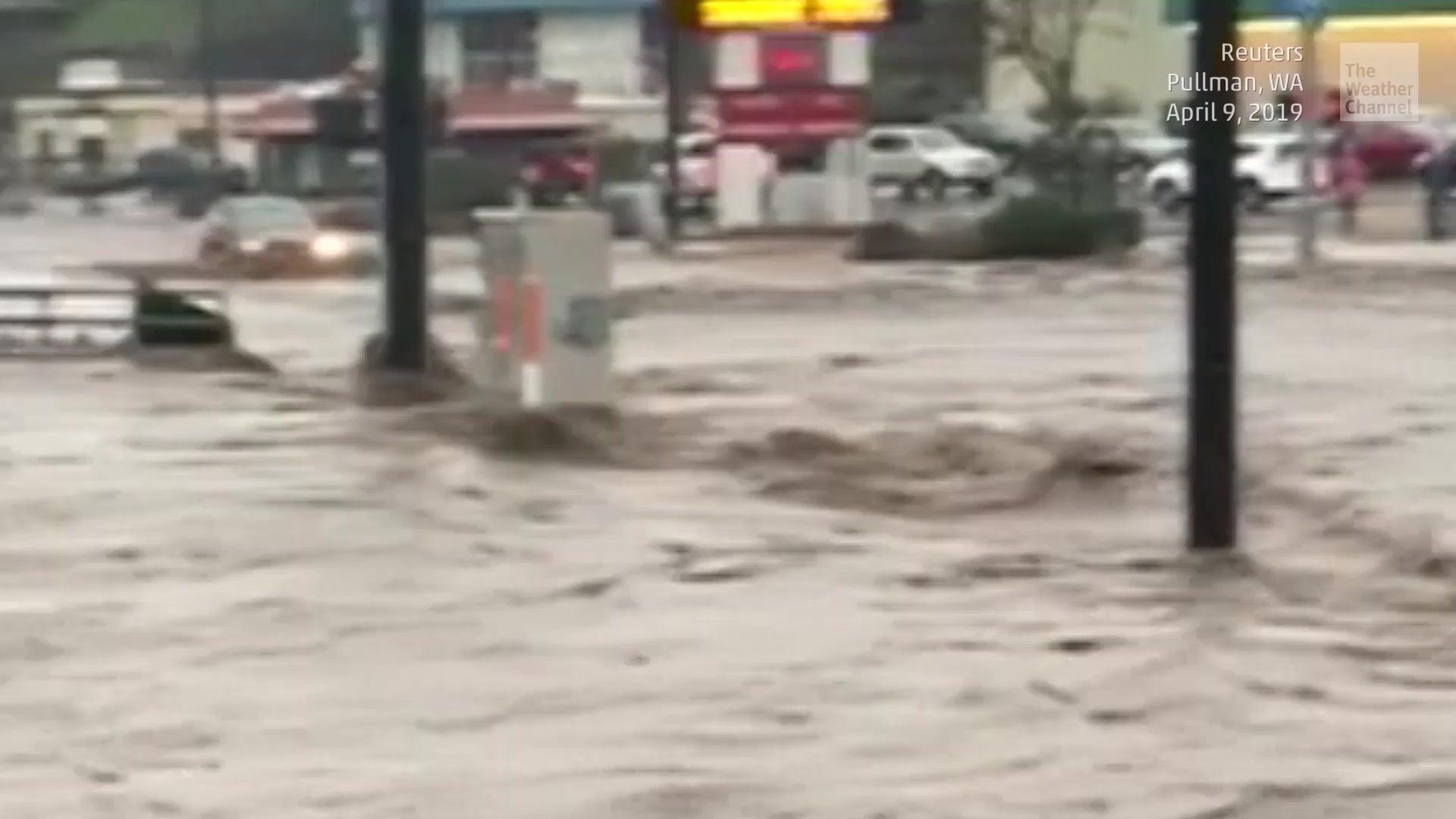Schwere Überschwemmungen in Washington