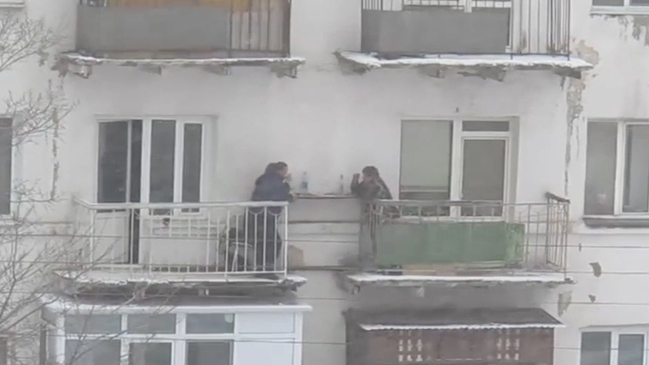 Neighbors Eat Together During Blizzard