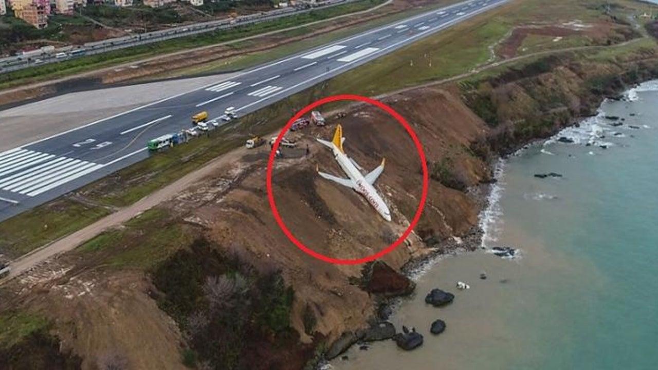 Boeing stürzt bei Landung fast ins Meer