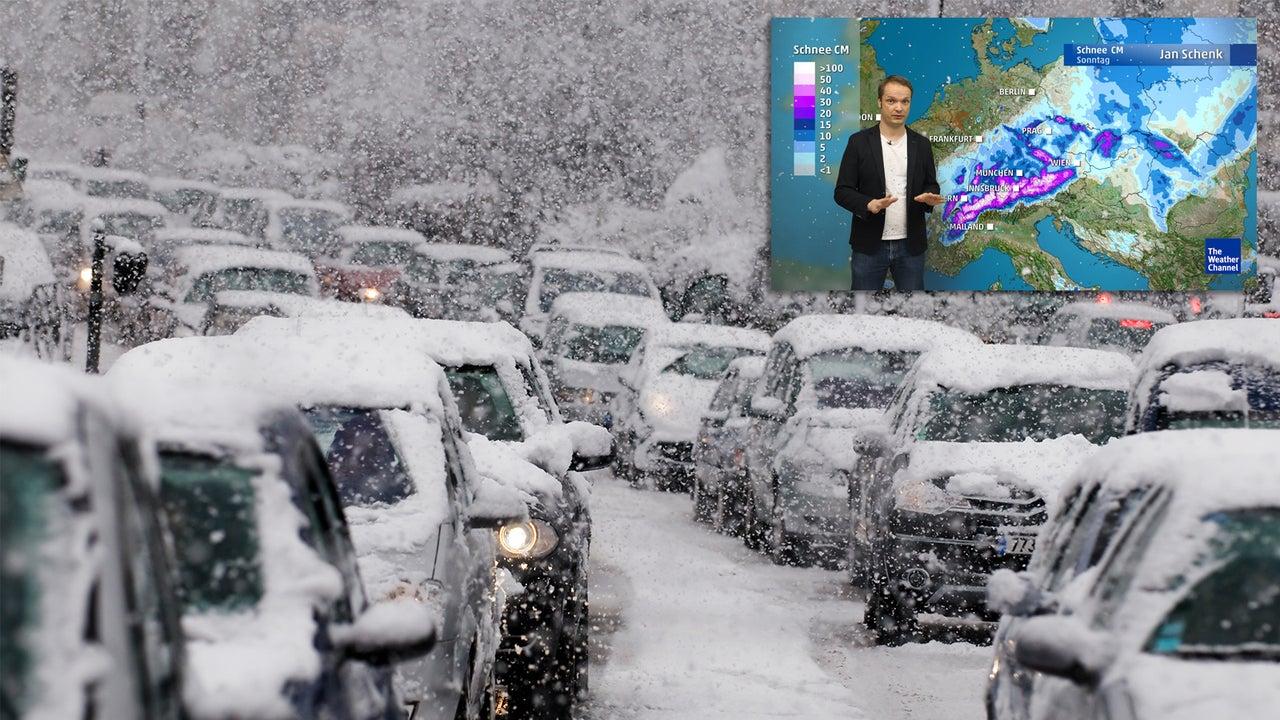 Sturm und Schnee bringen Chaos am Wochenende