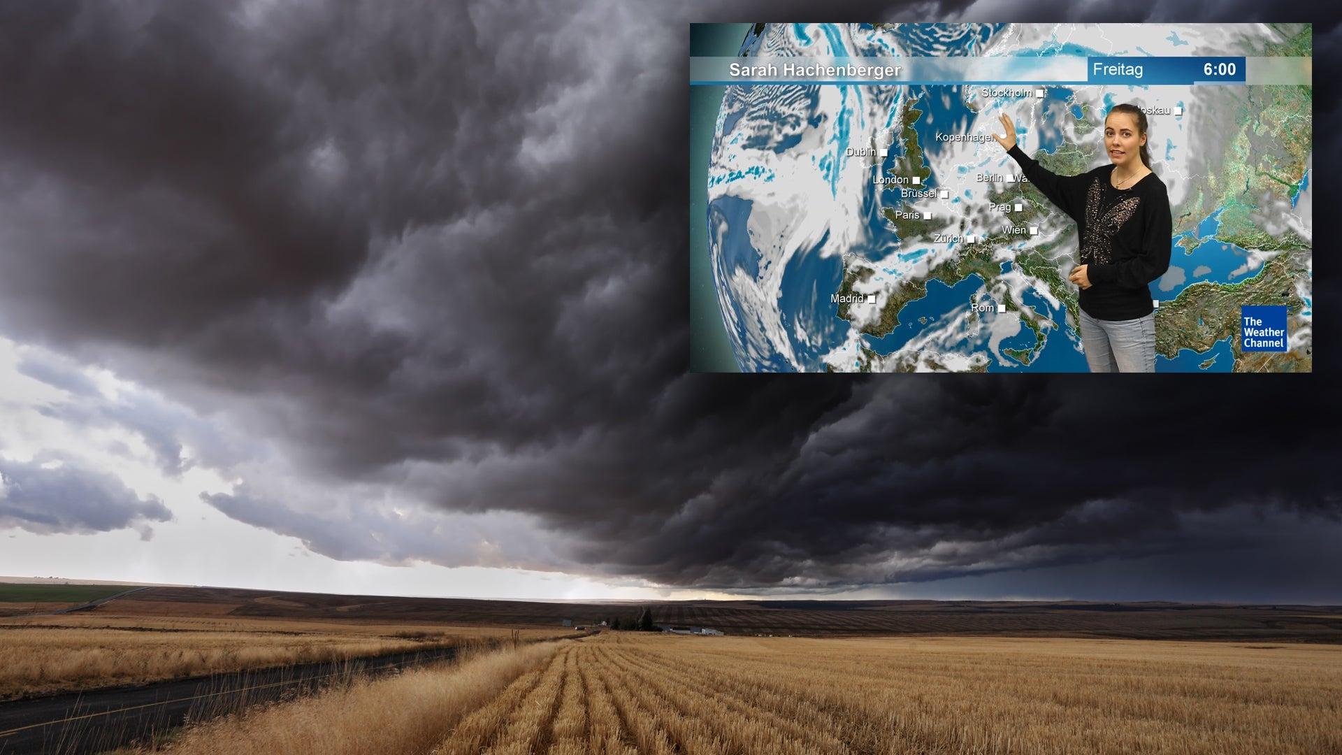 Teils bis zu 100 km/h: Tiefdruckserie bringt Sturm und Regen