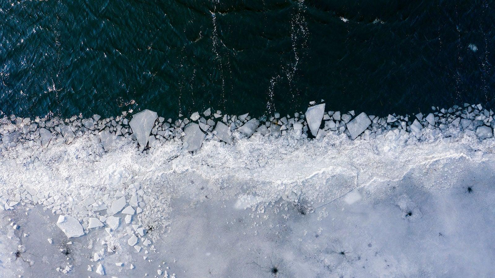 Zweitgrößter Eispanzer der Erde schmilzt auch im Winter