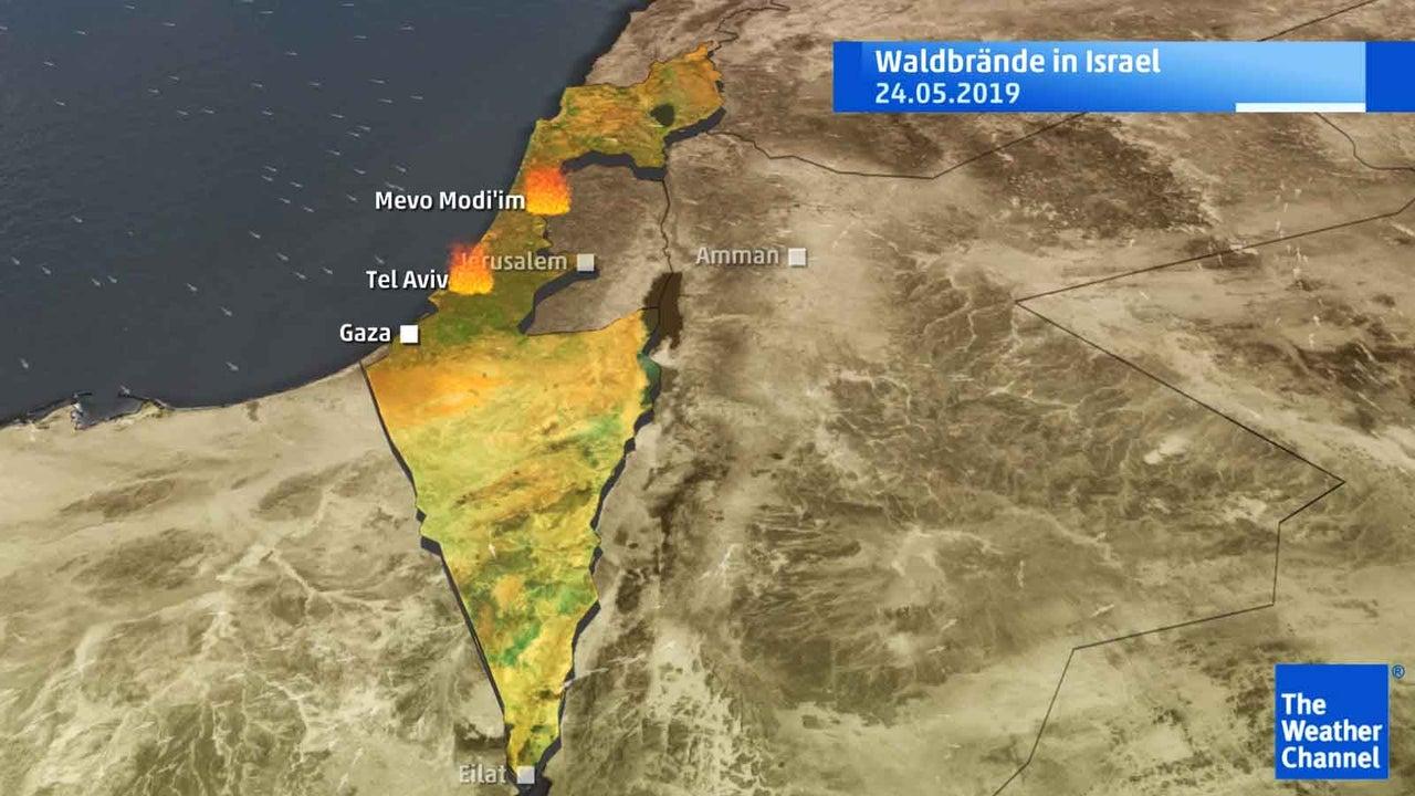 Waldbrände in Israel: Flammenhölle zerstört ein Dorf
