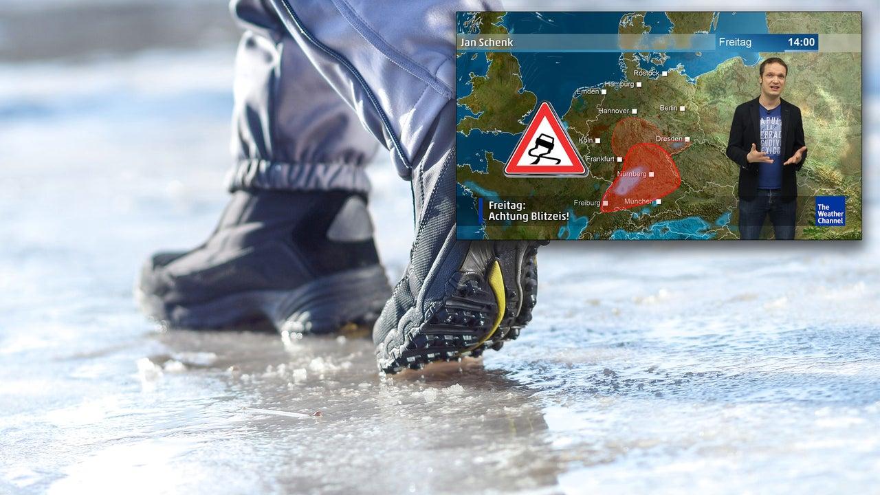 Wetter heute: Erst Schneefall, dann Blitzeis