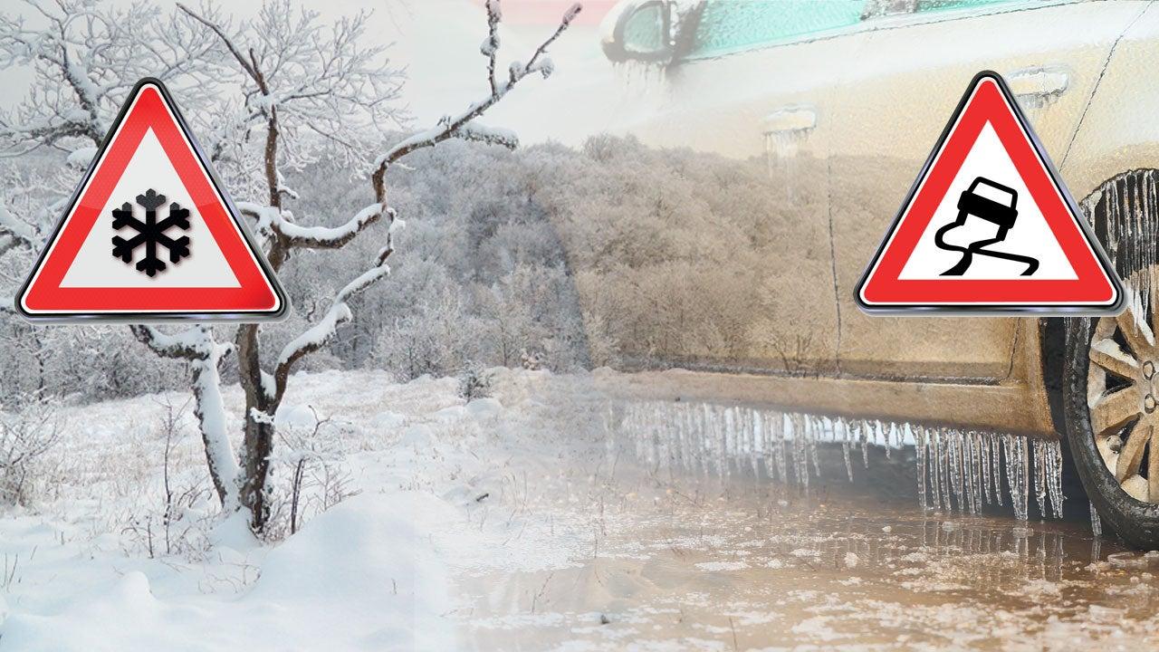 Glättegefahr! Am Freitag folgt auf Schnee gefrierender Regen