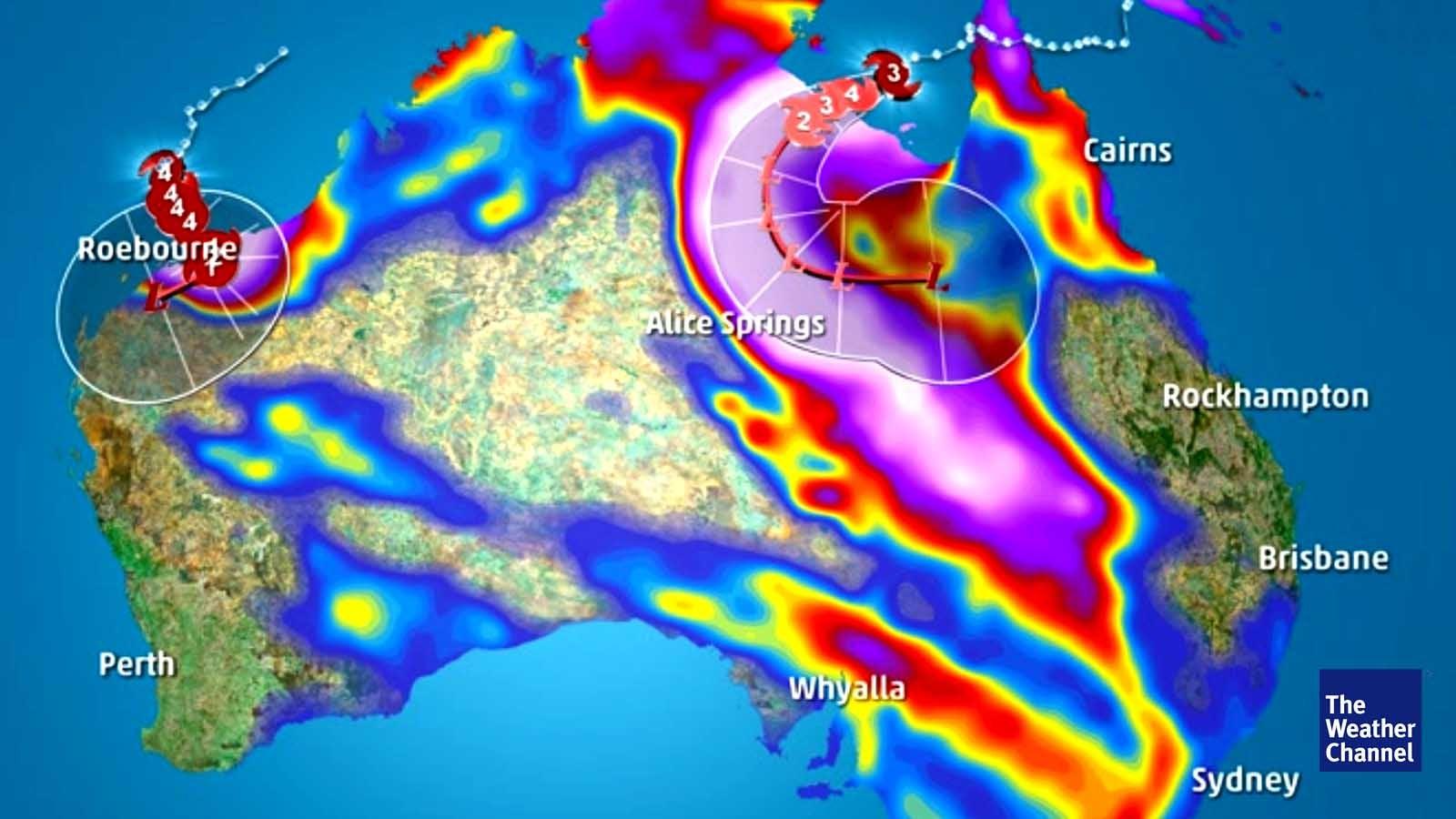 Zwei Zyklone nehmen Australien ins Visier