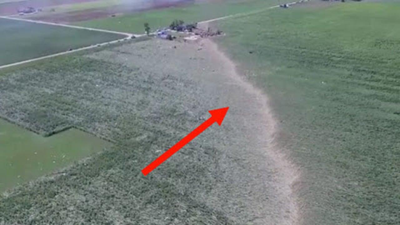 Drone Captures Massive Scar