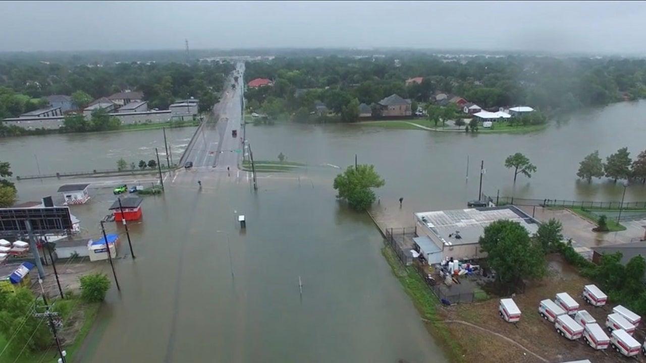Drone Video Show Massive Flooding
