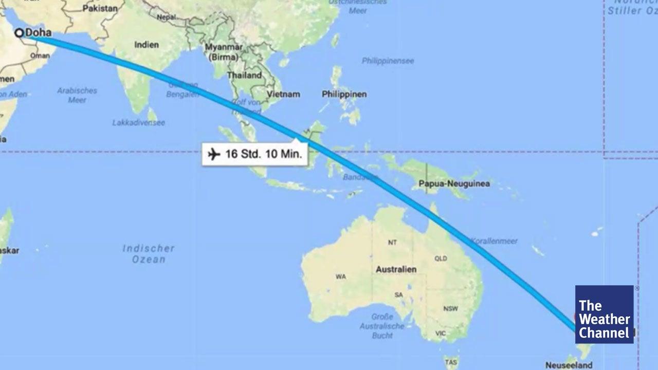 Der längste Nonstop-Flug dauert 17 Stunden