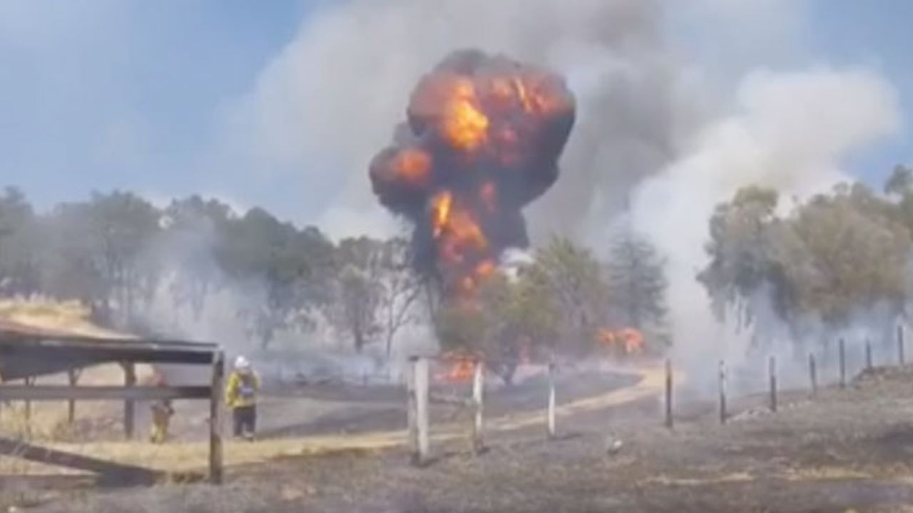Watch: 55-Gallon Fuel Tank Explodes