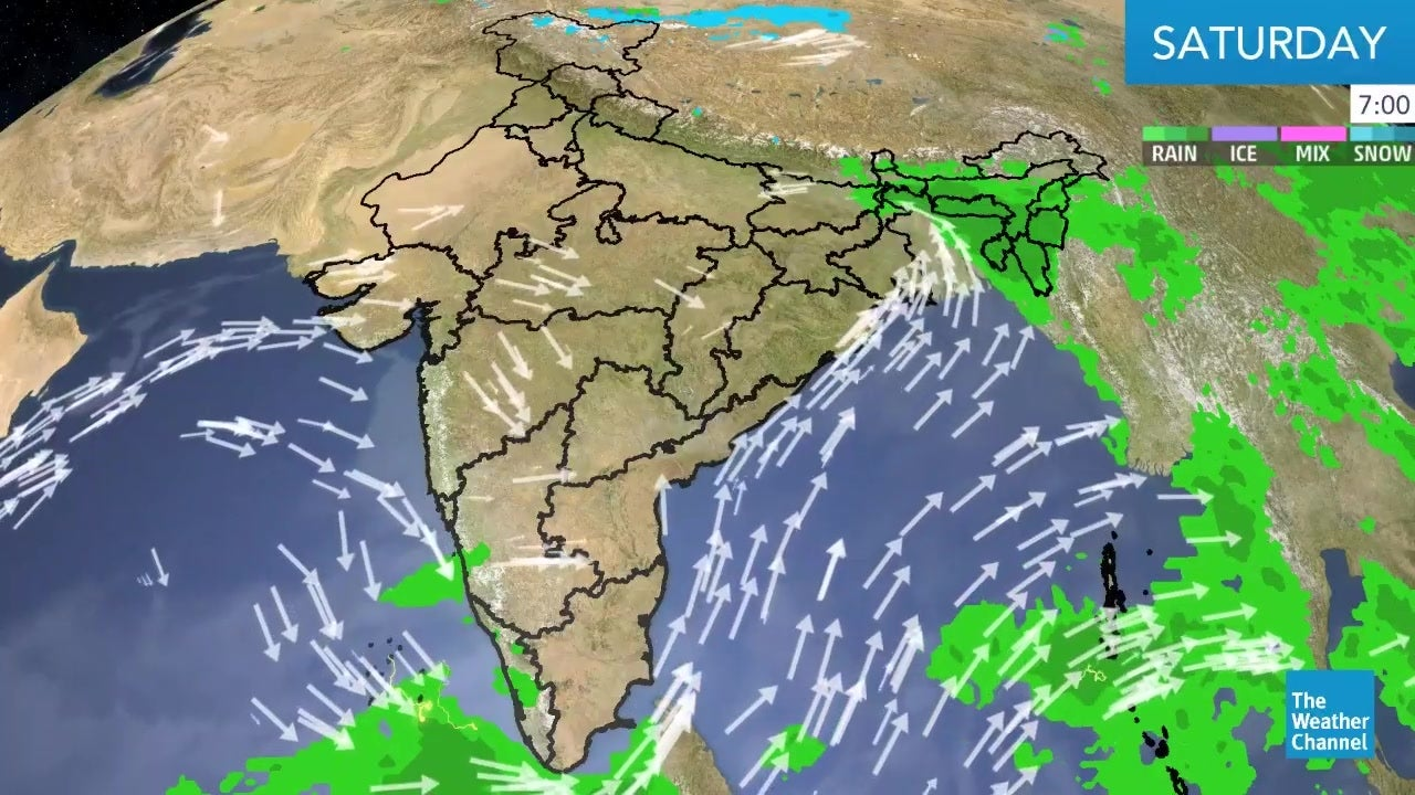 Watch the latest weather forecast for India