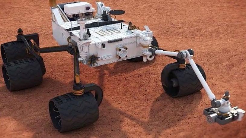 Mars-Rover Spirit malt Unanständiges