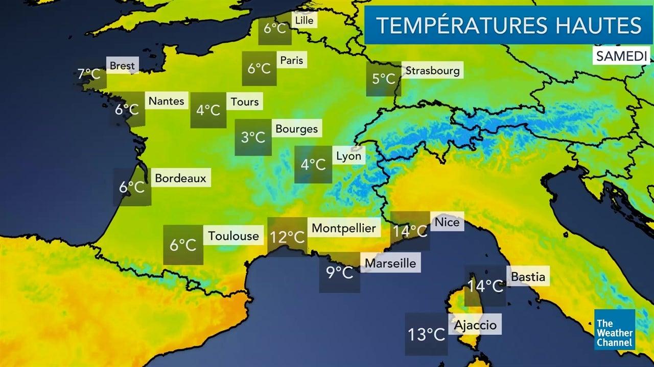 La météo du samedi 5 janvier et du dimanche 6 janvier