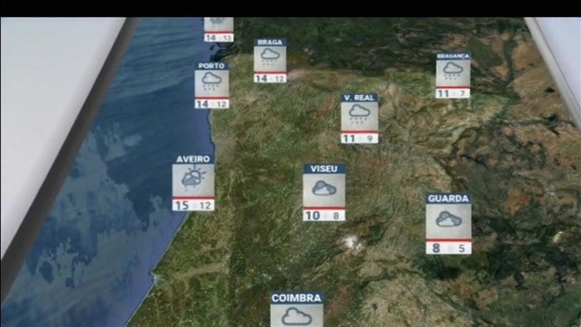 As previsões do tempo para hoje