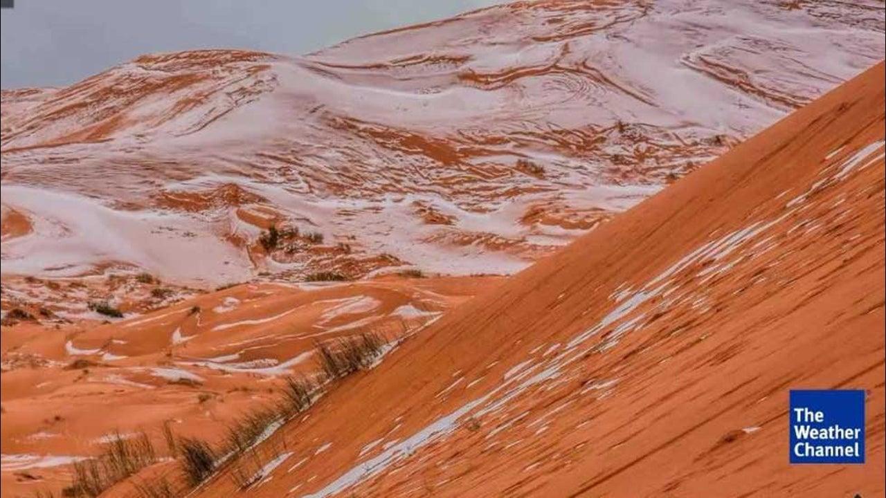 Verkehrte Welt: In der Sahara liegt Schnee