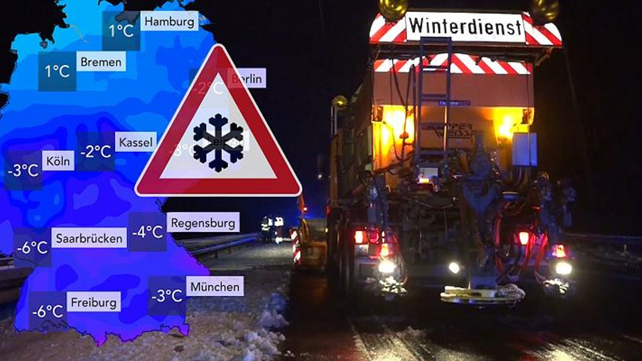 Schnee in NRW - und jetzt rückt die Kaltfront Richtung Süden vor