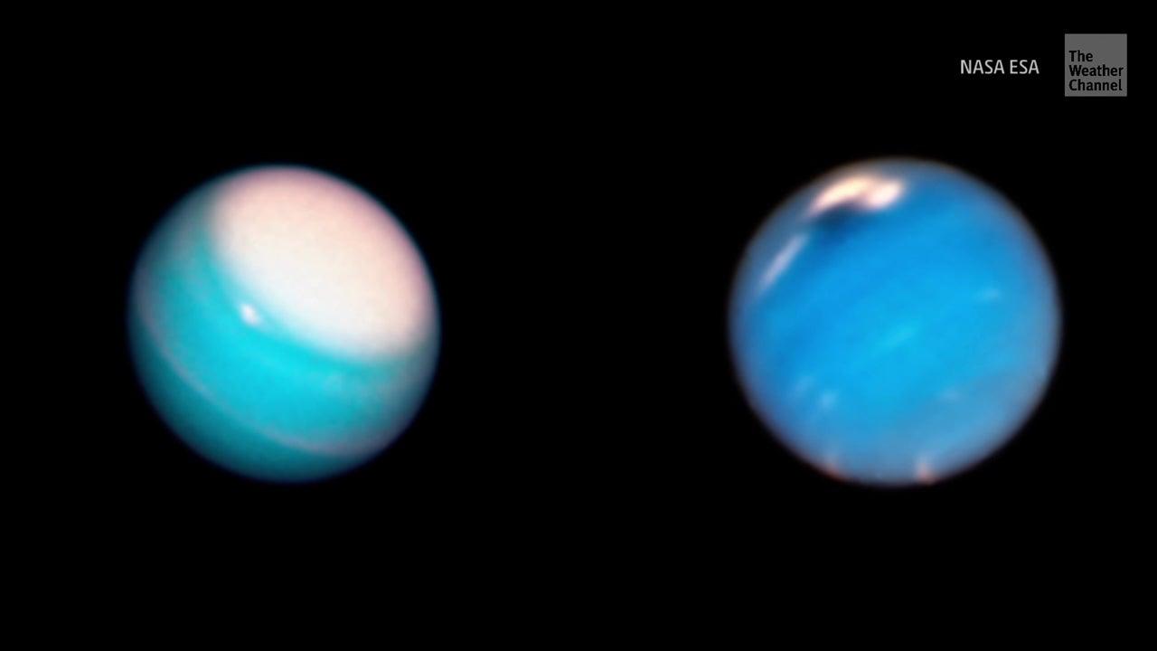 Hubble captura tormentas en Neptuno y Urano