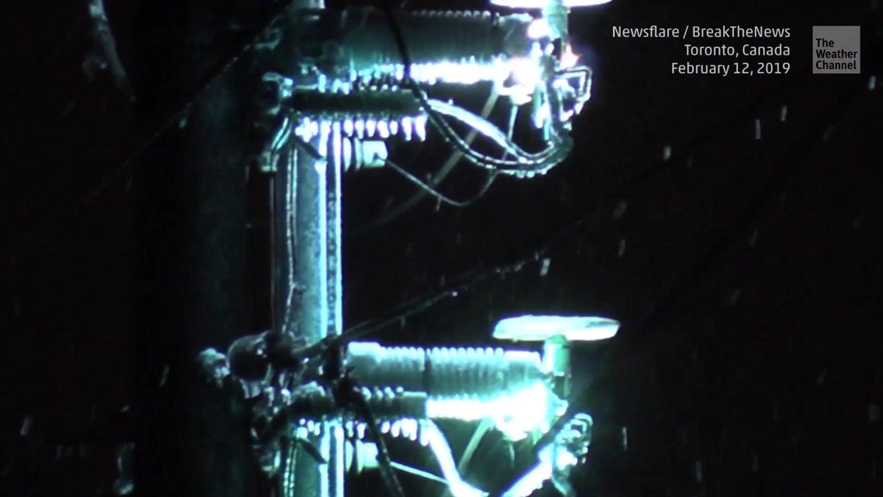 Tormenta de hielo causa gran show de luces
