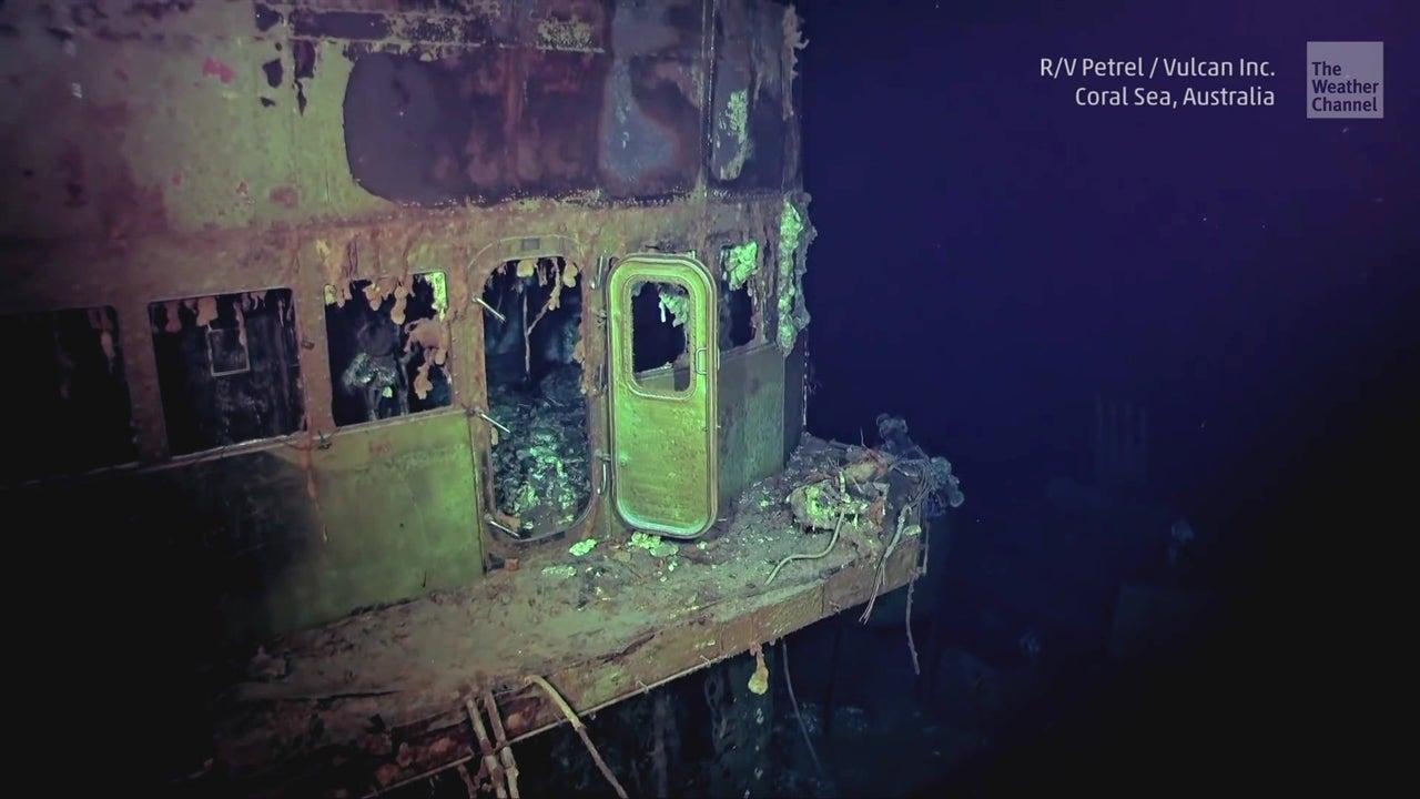 Encuentran portaaviones hundido en 1942
