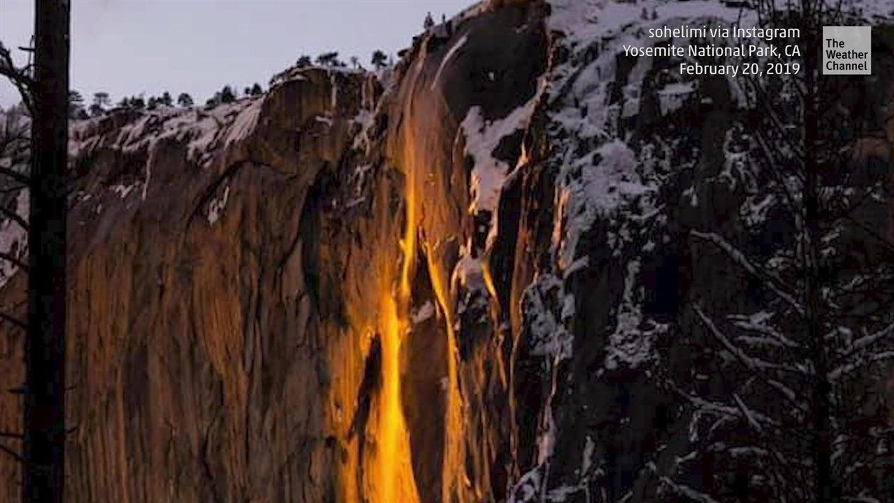 Mira esta cascada arder