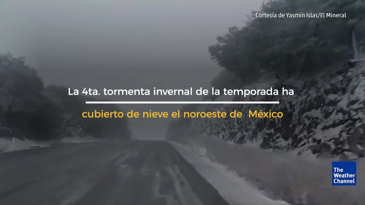 Nieve cubre amplia zona del noroeste de México