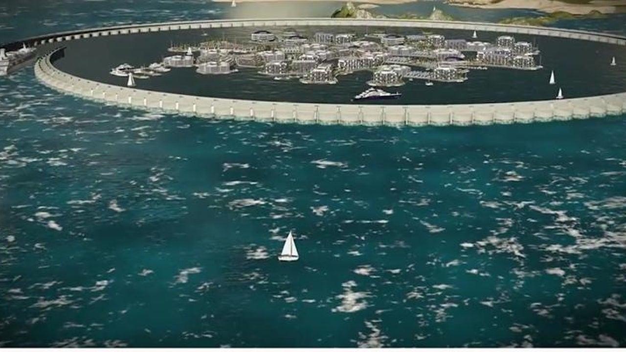 Menschen sollen in schwimmenden Städten leben