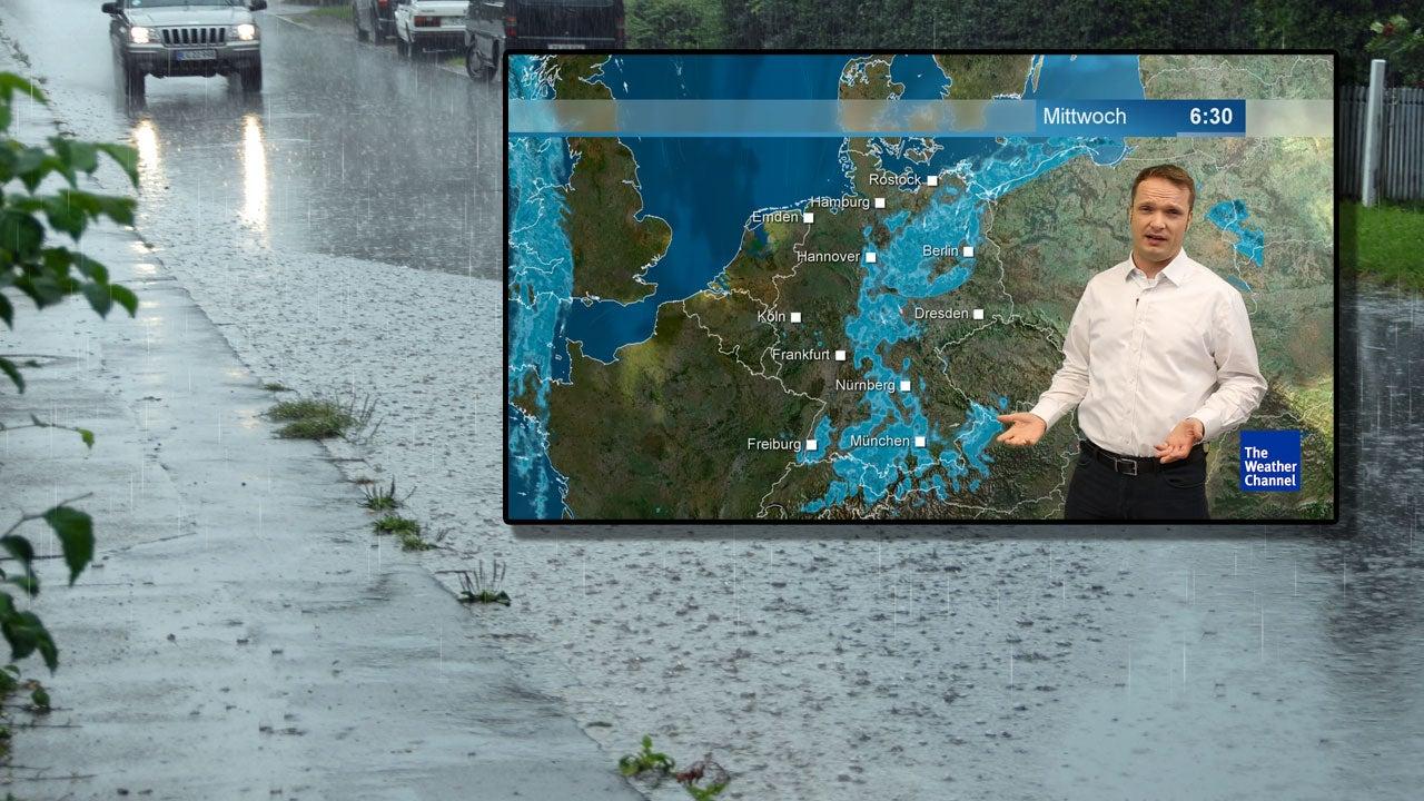 Tief Alfred lenkt den Dauerregen jetzt gegen die Alpen