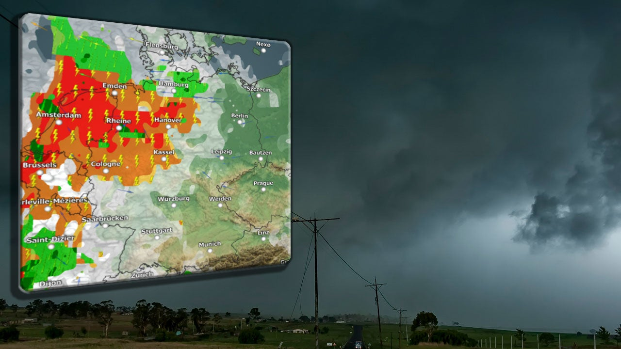 Schwere Gewitter ziehen im Norden auf