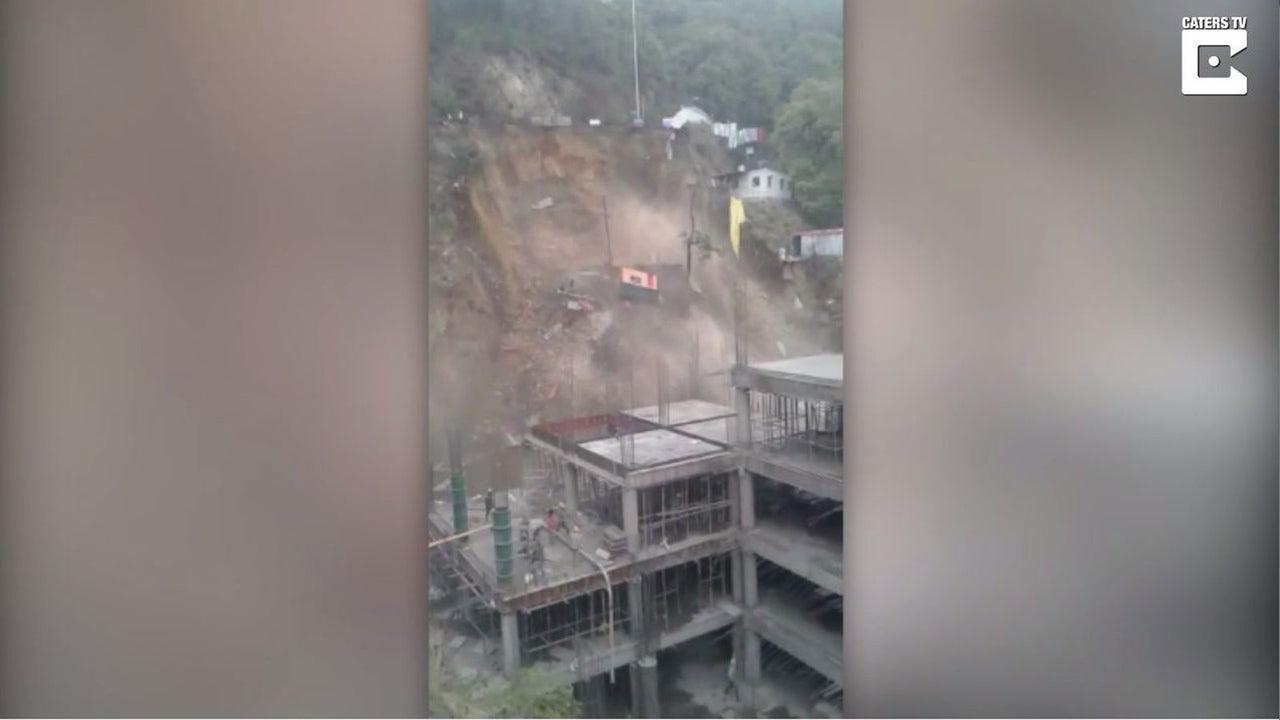 Bauarbeiter werden von Erdrutsch überrascht