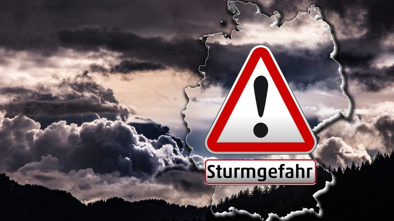 Wetter: Heftiger Orkan fegt über Deutschland