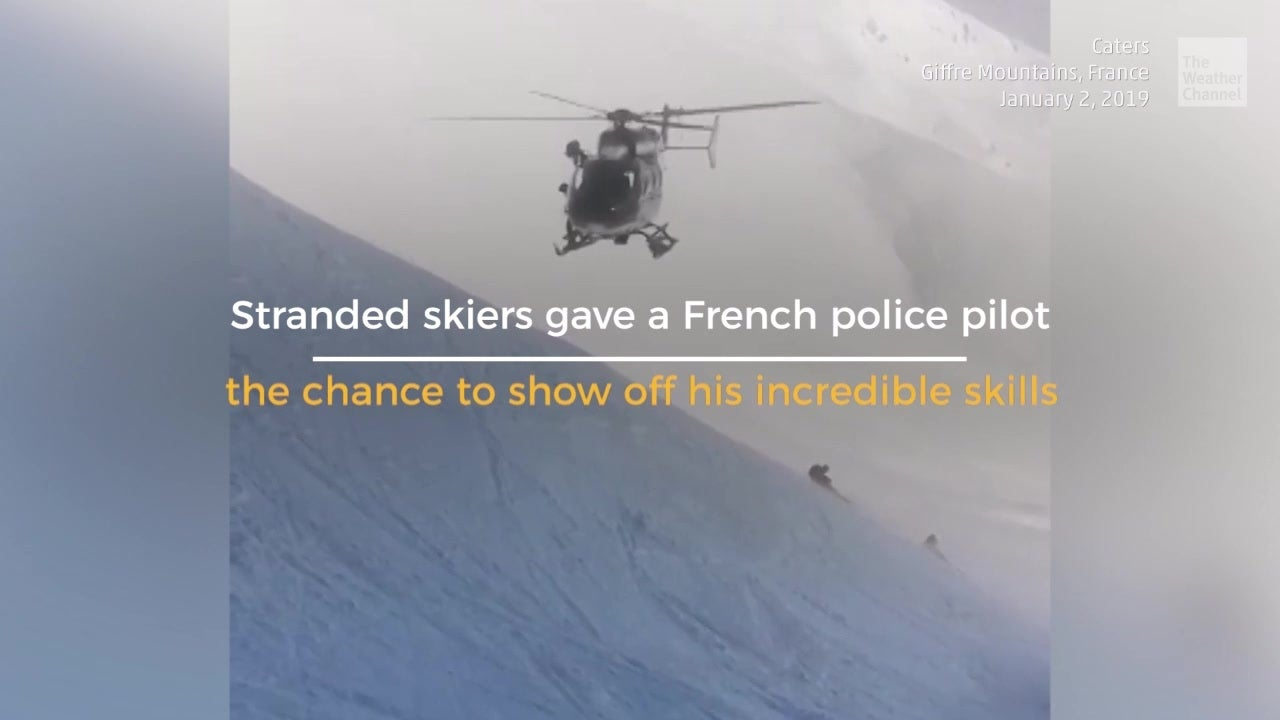 Stranded Skiers Skated to Safety